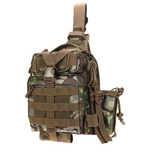 RUNATURE Zaino Monospalla Tattico Militare, Borsa a Tracolla Uomo Militare, Unisex Casuale Portabile Impermeabile All'aperto Molle Pacco di Petto