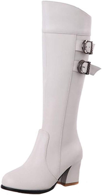 Onewus Women Knee-High Jack Boots