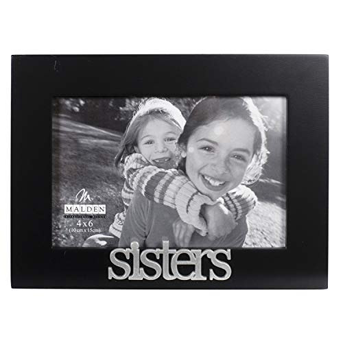 Malden International Designs Sisters Expressions Picture Frame, 4x6, Black