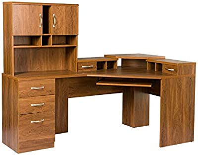 American Furniture Classics Reversible Corner Workcenter with Hutch