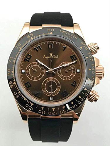 PLKNVT Luxury Black Rubber Men Watch Vetro Zaffiro Automatico Meccanico Giallo Oro Daytona Orologi in Argento Bianco6