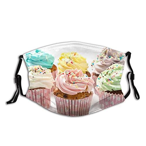 Máscara facial cómoda Muffins Crema Sprinkles Baked Goods Sun-Proof Moda Bandana Headwear para la pesca