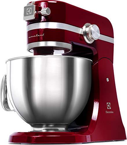 Electrolux EKM4000 Assistent-Robot de Cocina, 1000 W de Potencia, Color Rojo, 4.8 Liters, Acero inoxidable, 10 Velocidades