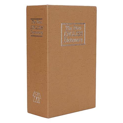 Caja fuerte para libros de desvío con cerradura de combinación Caja de almacenamiento segura para libros Caja para monedas de diccionario con cerradura de combinación de seguridad para uso doméstico
