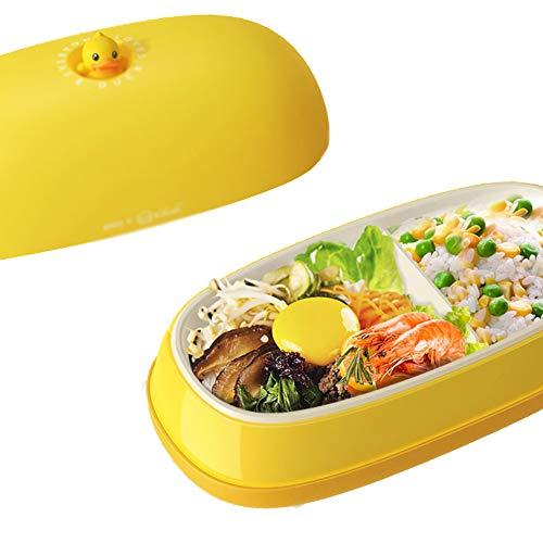 ZHIFENGLIU Patito Amarillo Fiambrera Electrica,Multifuncional Portátil Calentamiento Térmico Lunch Box