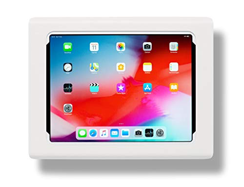 Tabdoq Wandhalterung kompatibel mit Apple iPad Pro 12.9 Zoll (2018 & 2020) 3. & 4. Generation (Weiss)