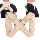 Soporte de clavícula, corrector de postura ajustable para cinturón de hombro para...