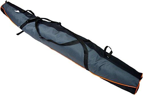 Aves24 SKITASCHE Skisack 150 160 170 180 und 190 cm für Ski mit Stöcke mit/ohne Skischuhtasche reißfeste Skibag (180cm, GRAU ohne Schuhtasche)