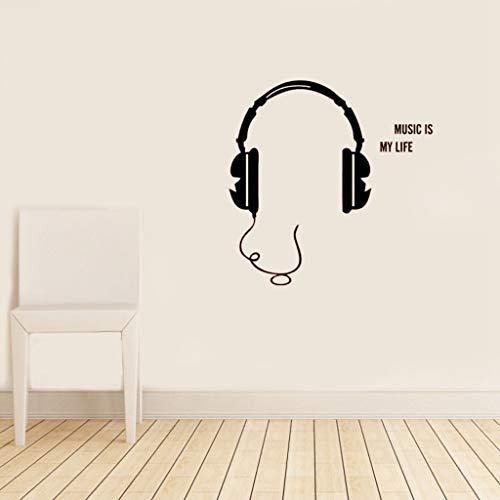 pegatina de pared pegatina de pared 3d Panel de interruptores de música Etiqueta adhesiva para auriculares Decal Posters Decor Mural para Switch