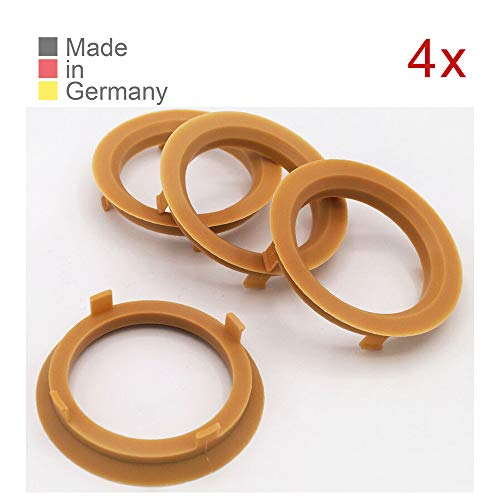 KONIKON 4X Zentrierringe 70,1 x 57,1 mm Hellbraun Felgen Ringe Radnaben Zentrierring Adapterring Ring Felgenring Distanzring Made in Germany