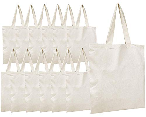 (30% OFF) 8 Pack Premium Canvas Tote Bags $13.90 Deal