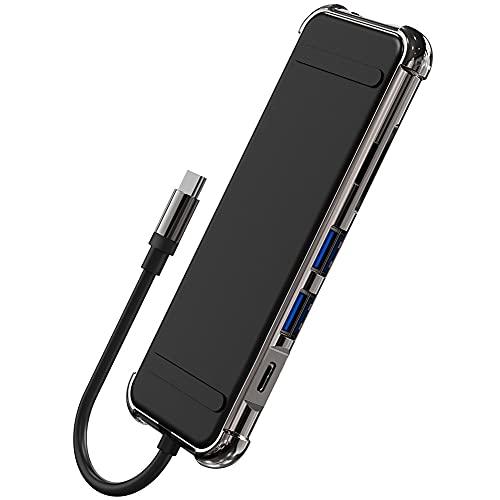 Likense Adaptador USB C Hub HDMI, 6 en 1 Tipo C Hub con 4K HDMI USB 3.0 Transferencia de datos, HDMI SD TF lector de tarjetas para MacBook Pro 2019 2018 2017