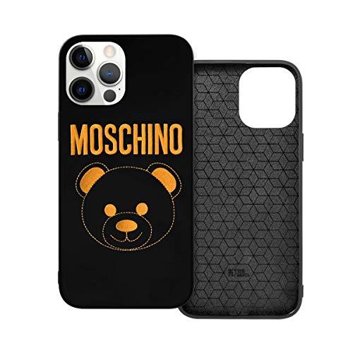 N / A Moschino Logo Handyh¨¹lle iPhone 12 PC Material Unisex para la protección de la Pers?nlichkeit del teléfono a prueba de polvo Iphone12 Pro Max-6.7