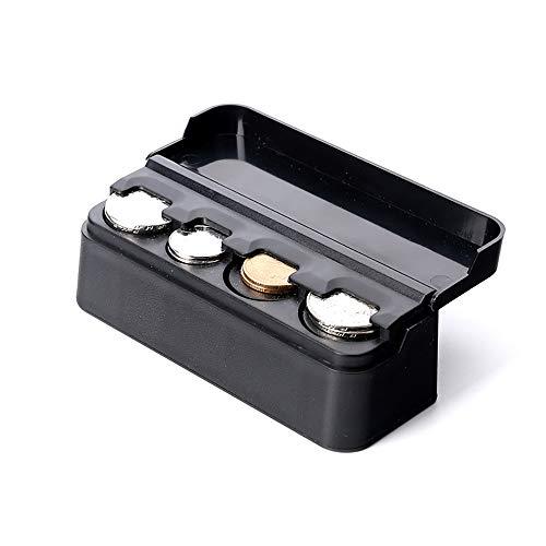 ZAKRLYB Caja de almacenamiento de monedas de autos al aire libre de transporte de cochecito, cambio de plástico, limpio y duradero, adecuado para el almacenamiento de monedas en el contador de escrito