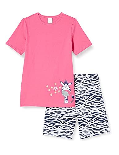 Schiesser Mädchen Schlafanzug kurz Pyjamaset, pink, 140