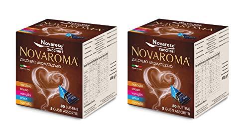 Novarese - Zucchero Aromatizzato, 5 Gusti Misti, 2 X 80 Bustine