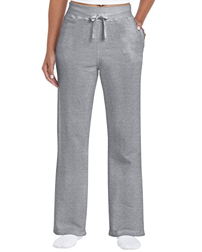Best sweatpants for women - Gildan Women's Open Bottom Sweatpants, Sport Grey, Small