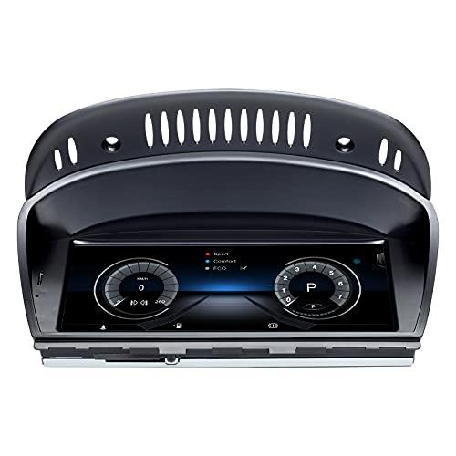 Navegador GPS para Coche Android 10 Auto Stereo para BMW 3 Series 5 Series E90 E60 2009-2012 Sistema CIC 8 Core 4GB RAM 128GB ROM con Sistema iDrive Pantalla táctil de 8.8' retenida con Carplay WiFi