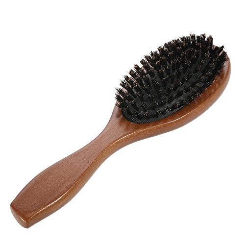 Steaean Brosse Cheveux Naturels De Porc Brosse De Massage Anti-Statique Peigne Brosse Palette du Cuir Chevelu, Outil en Bois Manche Adapté À La Coiffure