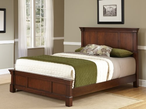 The Aspen Rustic Cherry Queen Bed by Home Styles