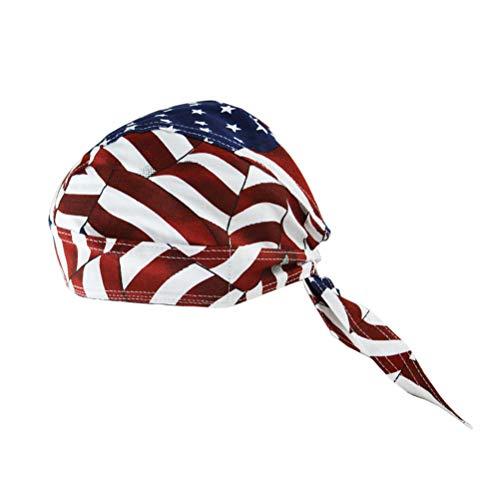 ABOOFAN Gorra de ciclismo de algodón con patrón de bandera americana engrosada gorra, gorra, sombrero personalizado para senderismo al aire libre Ciclismo