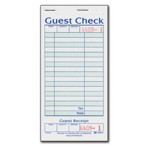 guest checks for restaurants - 3
