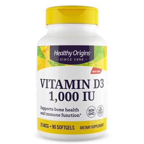 La vitamina D3, 1000 UI, 90 Cápsulas - Orígenes saludables