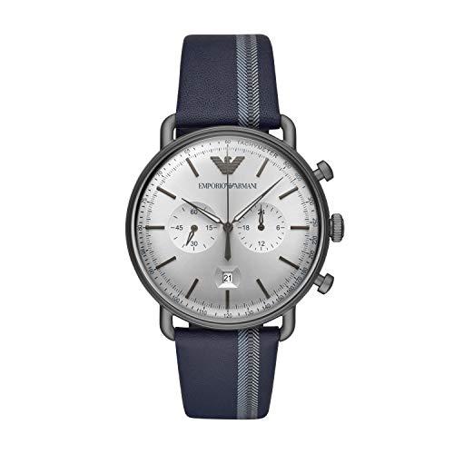 Emporio Armani Reloj Cronógrafo para Hombre de Cuarzo con Correa en Cuero AR11202