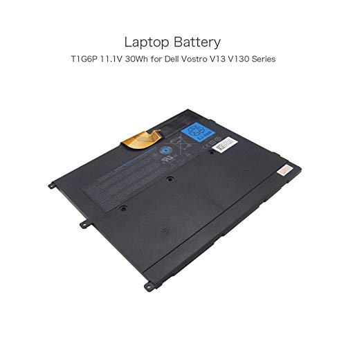 szhyon 11.1V 30Wh 3 Cell T1G6P 449TX PRW6G 0NTG4J Slim Laptop Battery compatible with Dell Vostro V13 V130 Series Laptop External Battery