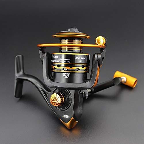 H/A El Precio Barato JK2000-6000 12B 5.2: 1 Spinning Wire Wire Squid Fishing Pesca de mar Paisca Gear Pesca HUANH (Color : 12, Size : 4000 Series)