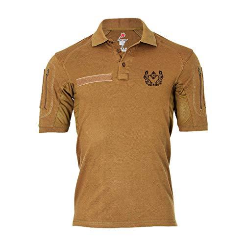 Copytec Tactical Poloshirt Alfa - Major Dienstgrad Schulterklappe Aufschiebeschlaufe Unter-Offizier Mannschafter #19114, Farbe:Khaki, Größe:XL