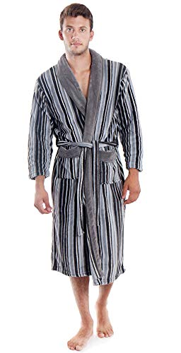 Simplicity Men's Bathrobe Plush Fleece Robe
