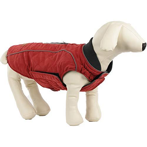ubest Hundemantel wasserdichte Winterjacke, Warm Weste Reflektierende Hundejacke für Winter und kaltes Wetter, Rot, XS