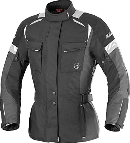 Büse Breno Damen Motorrad Textiljacke 40 Schwarz/Grau