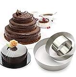 3 Tier Round Multilayer Anniversary Birthday Cake Baking Pans,Stainless Steel 3 Big Sizes ...