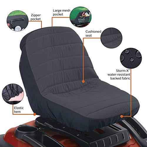 Classic Accessories Deluxe Riding Lawn Mower Seat Cover, Medium