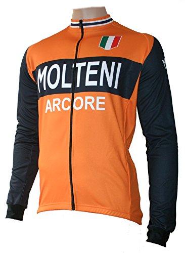 Skaide Maillot de ciclismo Molteni Arcore de manga larga, estilo retro, tallas...