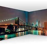 murando Fotomurales autoadhesivo Nueva York 539x250 cm Papel de esquina Papel Pintado Decoración de Pared Murales Pegatina decorativos adhesivos 3d moderna de Diseno Ciudad NYC Panorama d-A-0035-a-a