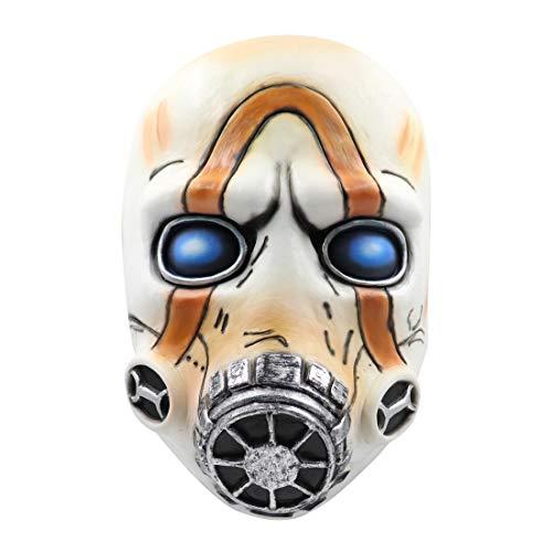 Zocos Maske Latex Borderlands 3 Psycho Bandit Halbe Gesichtsmaske Latex Maske Tanzmaske Kopfbedeckung Helm Cosplay Party Maske