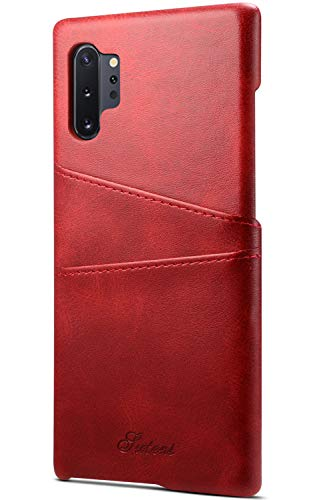 Wallet Case Galaxy Note 10 Plus/Note 10+ 5G Case With Credit Card Holder Slim PU Leather Back Cover Protective Case for Samsung Note 10 Plus 6.8Inch - Red