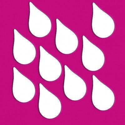 ServeWell décoratif Mini Raindrop Miroir Bundle de Dix