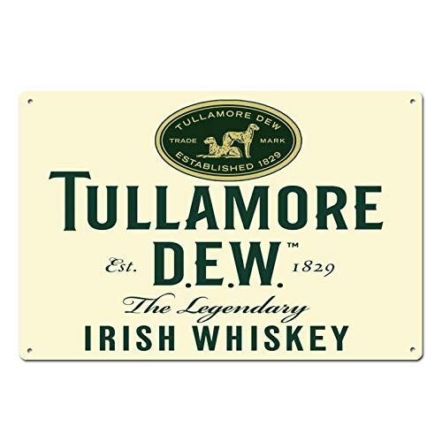 Tullamore Dew Irish Whiskey Established 1829 Tin Sign Metal Sign Door Plaque TIN Sign 7.8X11.8 INCH