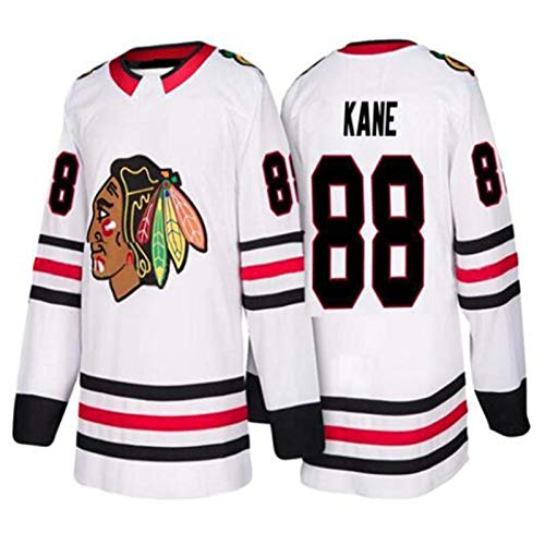 XIAORU NHL Sharp # 10 Chicago Blackhawks Herren Eishockey Kleidung Training Jerseys Patrick Kane # 88 Crawford # 50 Jonathan Toews # 19,White 88,XXXL