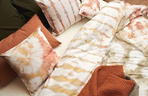 L1NK STUDIO Funda Nordica Cama 90/105 (180X220cm) 100% Algodón (Percal 200 Hilos) Estampacion Digital Tye Dye Melocoton