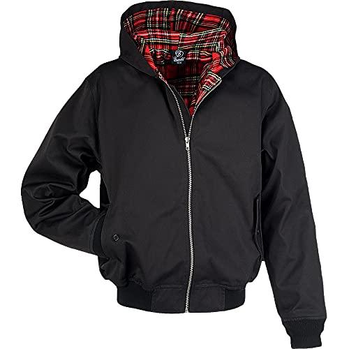 Brandit Hooded Canterbury Jacke, schwarz, Gr. XL