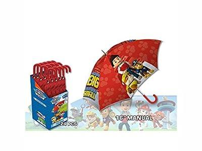 Kids Paw Patrol Paraguas Clásico, 57 cm, Rojo de Kids
