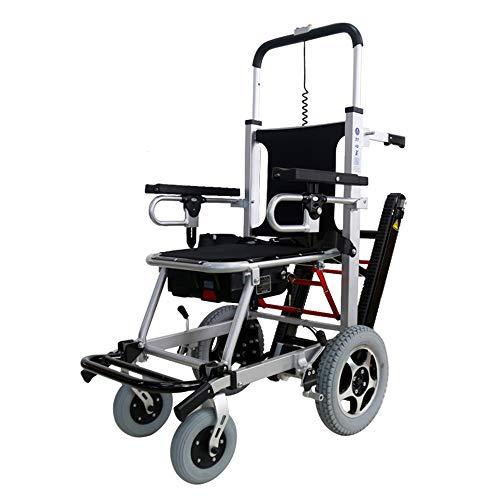 Treppensteiger Rollstuhl leicht zusammenklappbar Treppenstuhl Lift für Senioren Evakuierung Treppenstuhl Manueller Treppensteiger Rollstuhl Medizinischer Notfall Transferstuhl mit Schienen