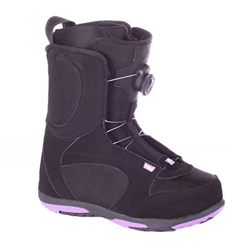 Head Women's Coral Boa Quick-Dry Freeride Snowboard Boots, Black/Purple, 255