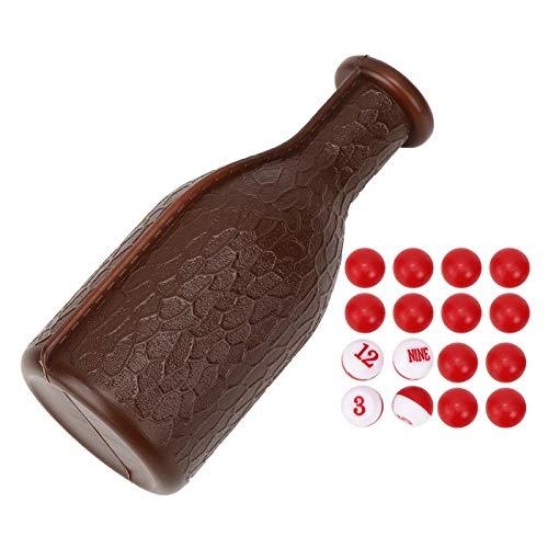DAUERHAFT Una Botella de coctelera Caja de Dados para Piscina Accesorios de Billar Durables para Entretenimiento en Bares(Brown)