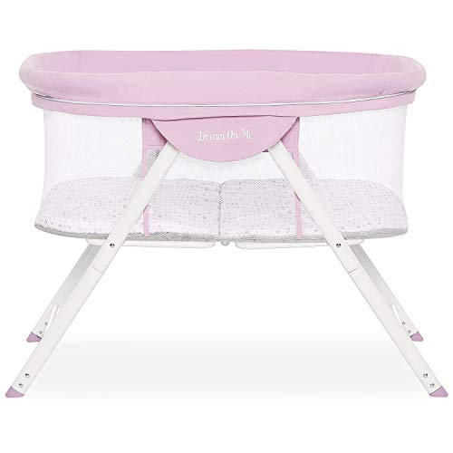 Big Save! Dream On Me Poppy Traveler Portable Bassinet in Purple and Pink